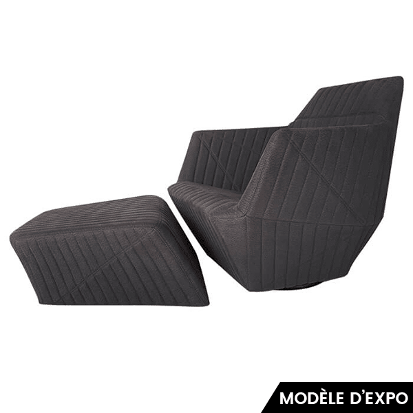 fauteuil facett repose pieds ligne roset pas cher. Black Bedroom Furniture Sets. Home Design Ideas