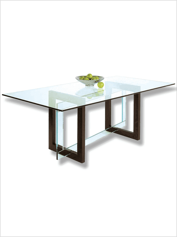 table pythagore roche bobois transparent marron zeeloft