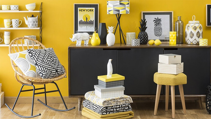 un petit coup de jaune dans votre d co zeeloft. Black Bedroom Furniture Sets. Home Design Ideas