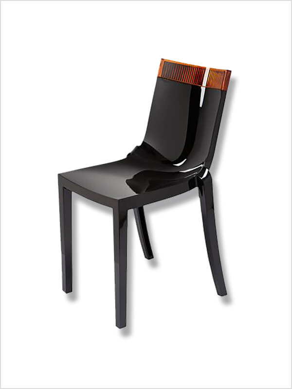 chaise hi cut noir orange p starck kartell pas cher. Black Bedroom Furniture Sets. Home Design Ideas