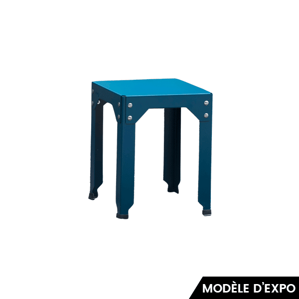 tabouret hegoa bleu mati re grise en offre sp ciale sur zeeloft. Black Bedroom Furniture Sets. Home Design Ideas