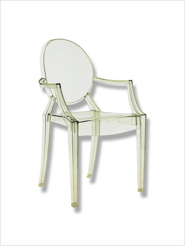 fauteuil louis ghost vert p starck kartell en occasion zeeloft. Black Bedroom Furniture Sets. Home Design Ideas