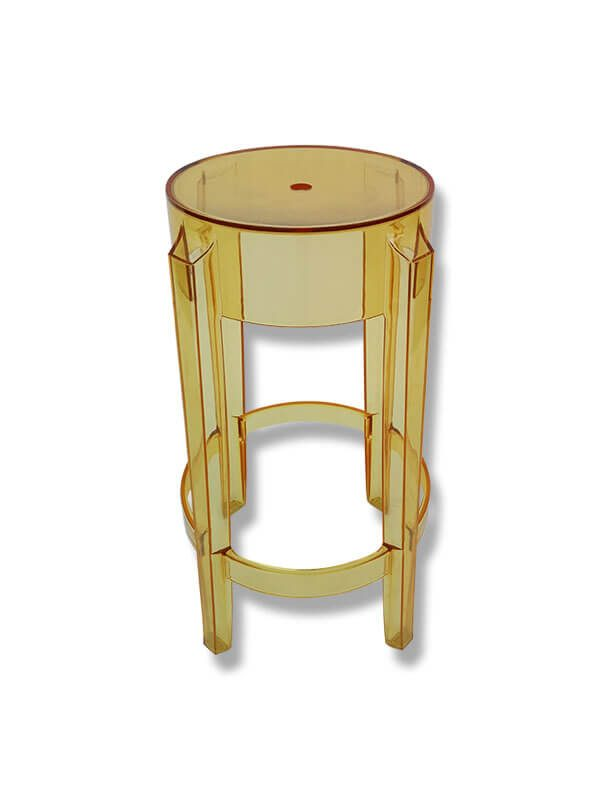 tabouret charles ghost jaune p starck kartell pas cher grandes marques en promo sur zeeloft. Black Bedroom Furniture Sets. Home Design Ideas