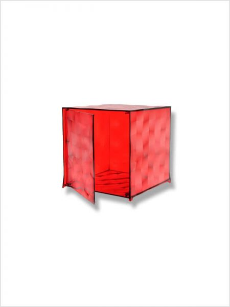 cube optic kartell rouge porte zeeloft