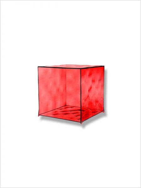 cube optic kartell rouge zeeloft
