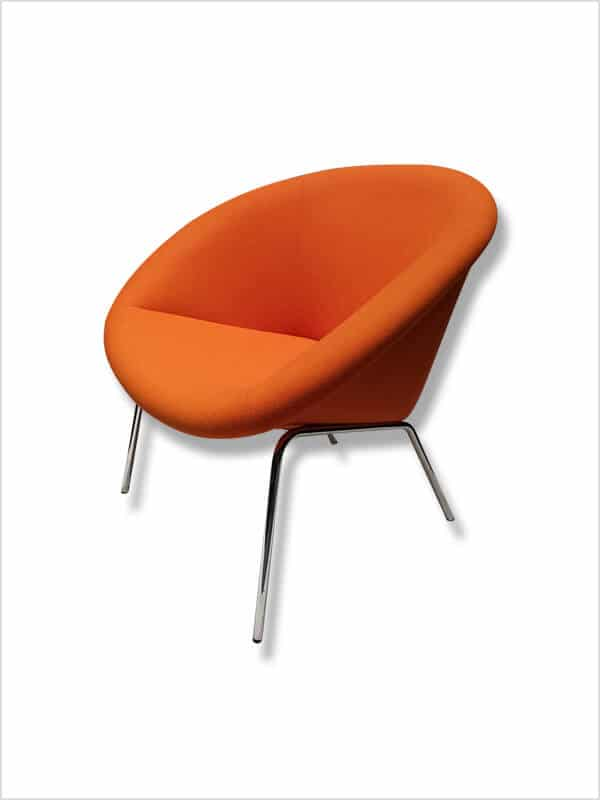 fauteuil 369 orange walter knoll pas cher grandes. Black Bedroom Furniture Sets. Home Design Ideas