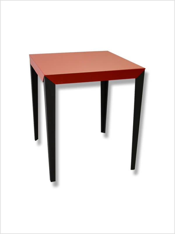 table mange debout zonda rouge noir mati re grise d. Black Bedroom Furniture Sets. Home Design Ideas