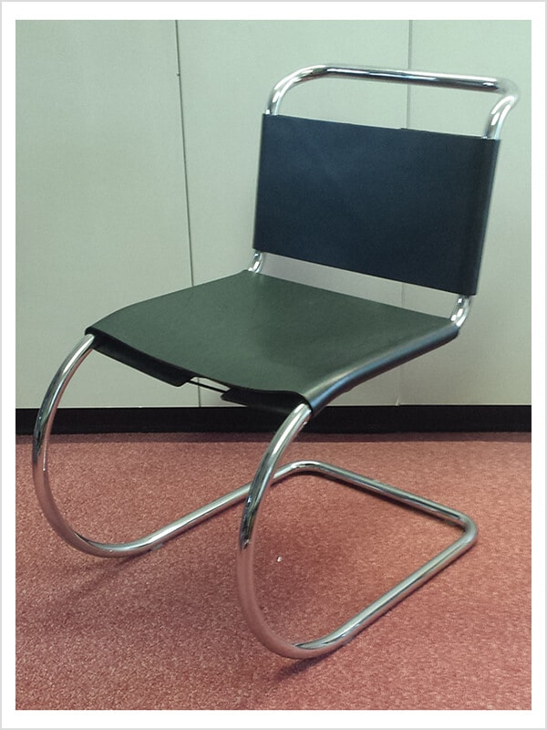 Chaise mr l mies van der rohe knoll d 39 occasion zeeloft - Chaise mies van der rohe ...