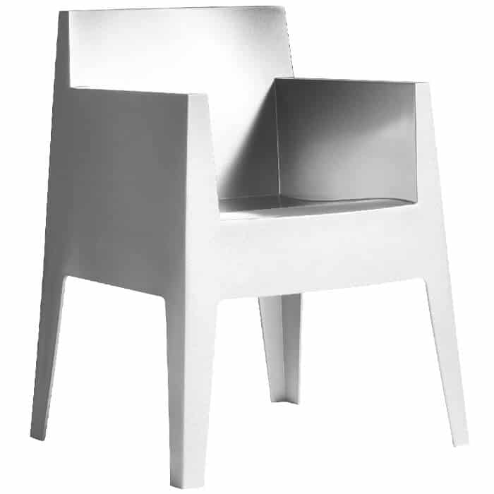 fauteuil toy blanc p starck driade pas cher grandes. Black Bedroom Furniture Sets. Home Design Ideas