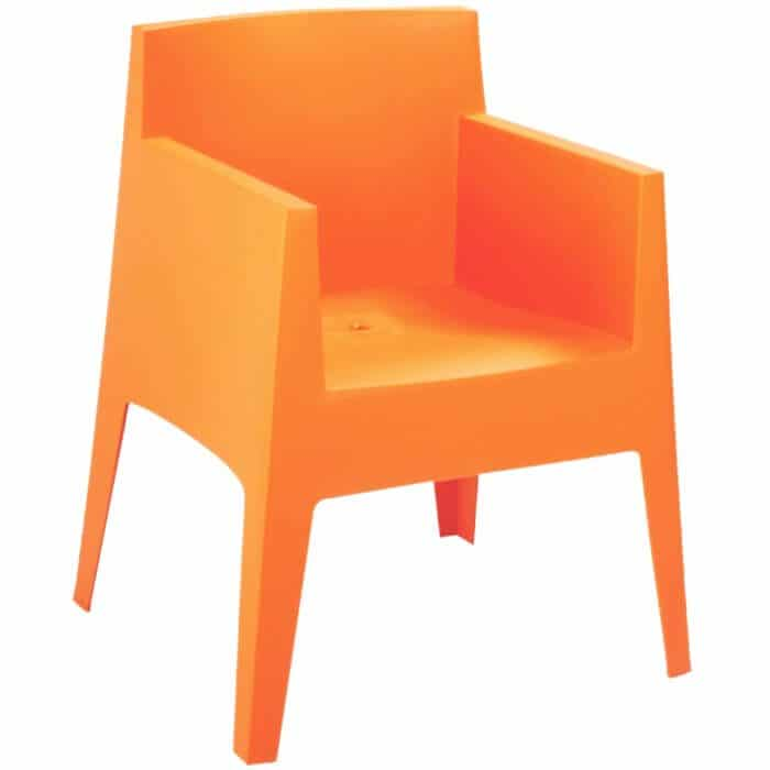 fauteuil toy orange p starck driade pas cher grandes marques en promo sur zeeloft. Black Bedroom Furniture Sets. Home Design Ideas