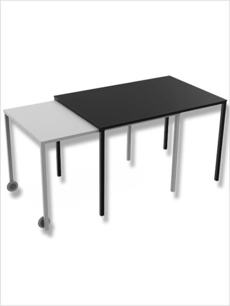table rafale matiere grise sable noir zeeloft
