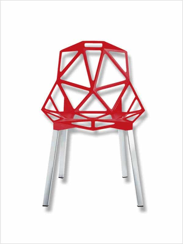 chaise chair one magis rouge zeeloft