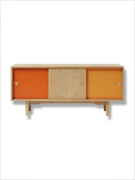 buffet moodi 130 zweed marron orange zeeloft