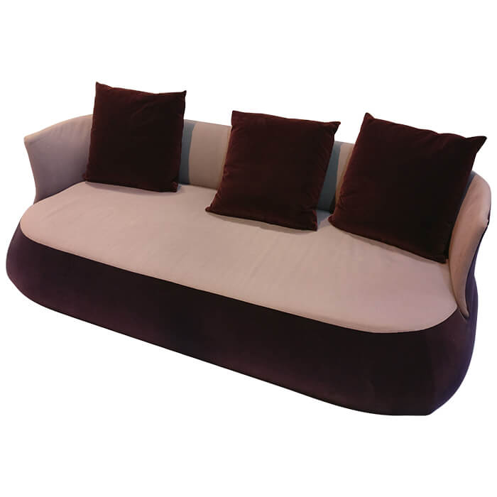 canap fat sofa violet p urquiola b b italia pas cher grandes marques en promo sur zeeloft. Black Bedroom Furniture Sets. Home Design Ideas