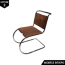 chaise S33 pure materials thonet cuir de buffle marron zeeloft