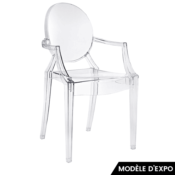 fauteuil louis ghost cristal p starck kartell en offre sp ciale sur zeeloft. Black Bedroom Furniture Sets. Home Design Ideas