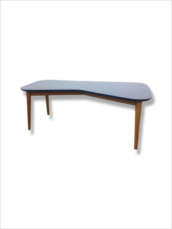 Table basse vy bleu kann design en occasion zeeloft - Table basse bleu ...