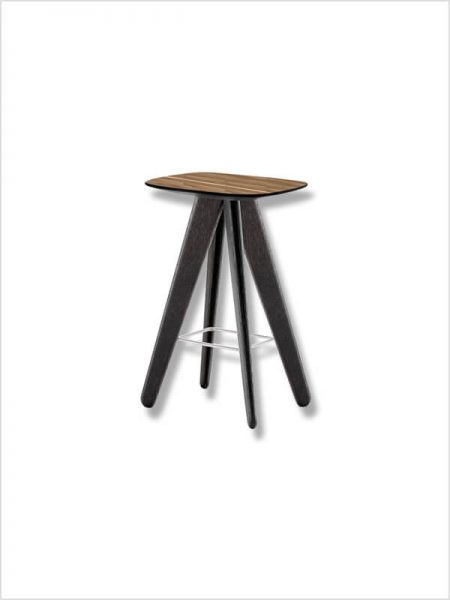 tabouret ics poliform marron noir zeeloft