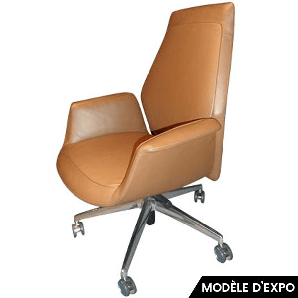 fauteuil downtown executive jean marie massaud cuir marron zeeloft