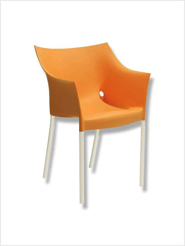 fauteuil dr no p starck orange kartell en occasion zeeloft. Black Bedroom Furniture Sets. Home Design Ideas