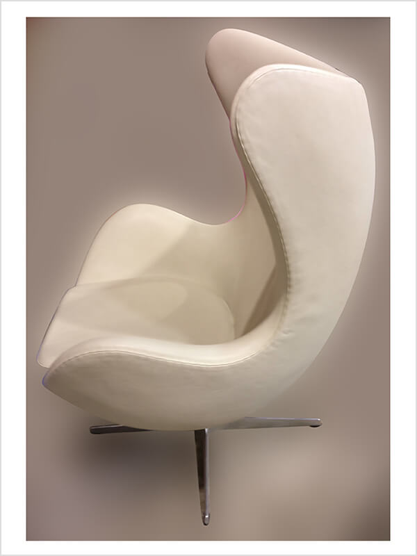 fauteuil egg chair a jacobsen blanc fritz hansen d 39 occasion zeeloft. Black Bedroom Furniture Sets. Home Design Ideas