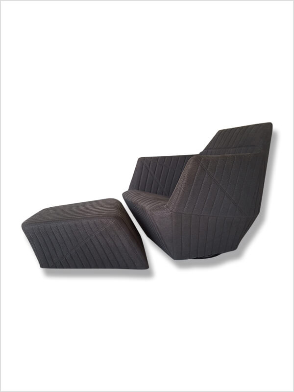 fauteuil facett repose pieds ligne roset d 39 occasion. Black Bedroom Furniture Sets. Home Design Ideas