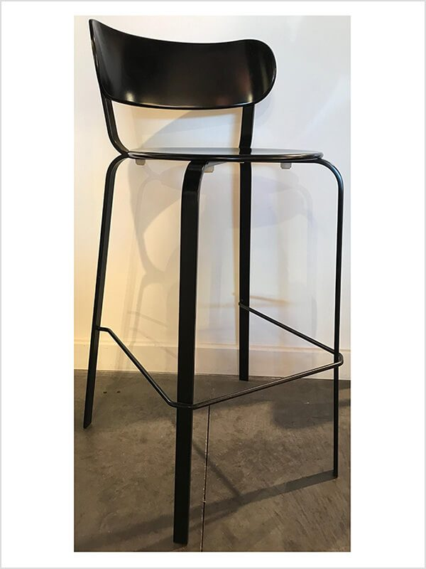 Interesting tabouret stil lapalma noir zeeloft with for Barstuhl lem