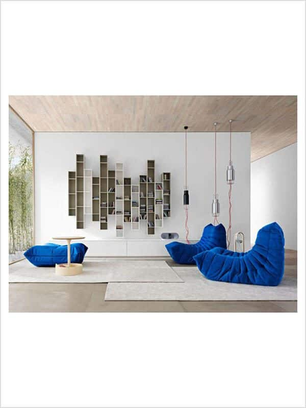 canap togo ligne roset michel ducaroy bleu zeeloft with banquette togo. Black Bedroom Furniture Sets. Home Design Ideas