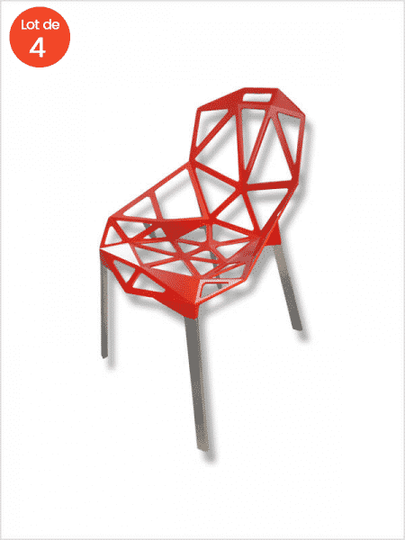 chaise chair one magis gcric rouge zeeloft