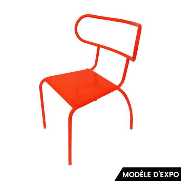 chaise meteo-out sawaya & moroni rouge zeeloft