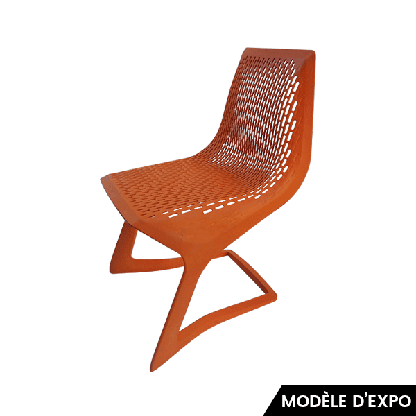 chaise myto plank orange zeeloft