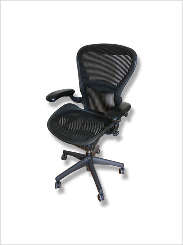fauteuil aeron noir herman miller d 39 occasion zeeloft. Black Bedroom Furniture Sets. Home Design Ideas