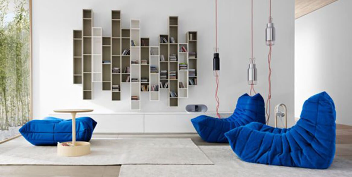 s lection mobilier design bleu la couleur des vacances. Black Bedroom Furniture Sets. Home Design Ideas