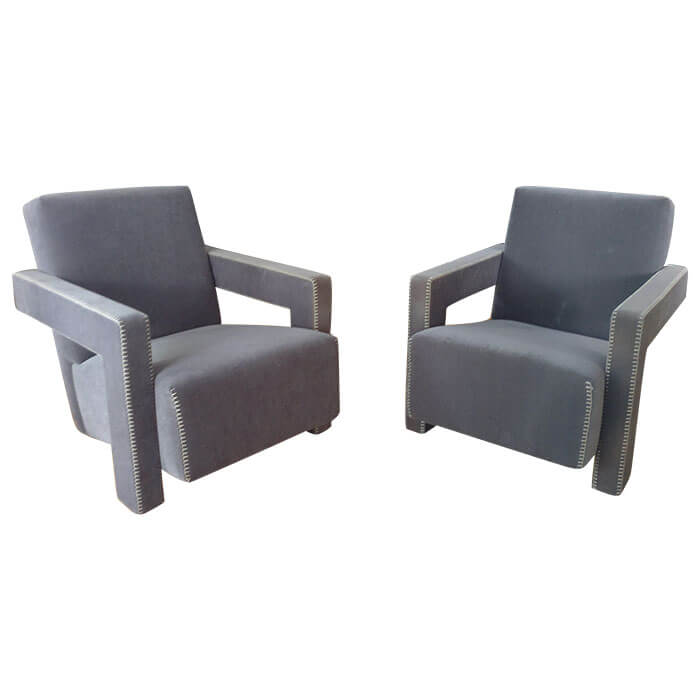 fauteuil utrecht lot de 2 cassina pas cher grandes marques en promo sur zeeloft. Black Bedroom Furniture Sets. Home Design Ideas