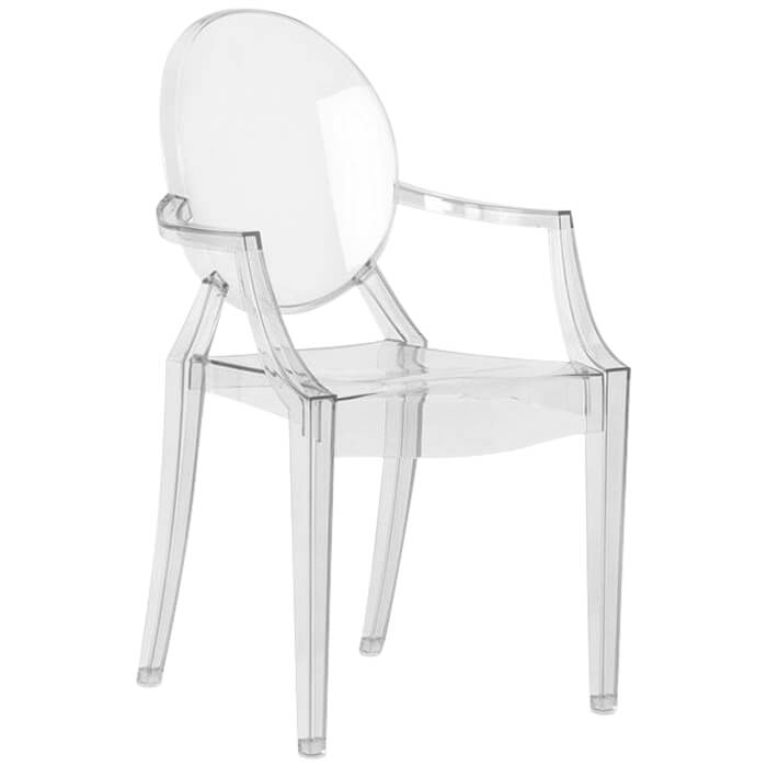 fauteuil louis ghost transparent p starck kartell pas cher grandes marques en promo sur. Black Bedroom Furniture Sets. Home Design Ideas