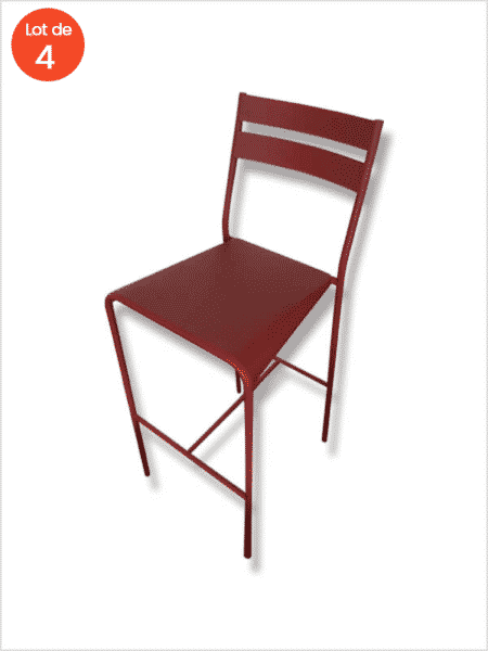 chaise de bar facto Jouin fermob rouge zeeloft