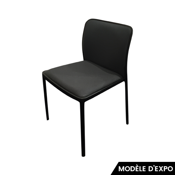chaise audrey soft gris noir kartell pas cher grandes marques en promo sur zeeloft. Black Bedroom Furniture Sets. Home Design Ideas