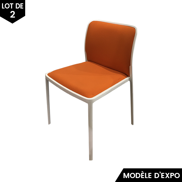 chaise audrey soft lot de 2 kartell pas cher grandes marques en promo sur zeeloft. Black Bedroom Furniture Sets. Home Design Ideas