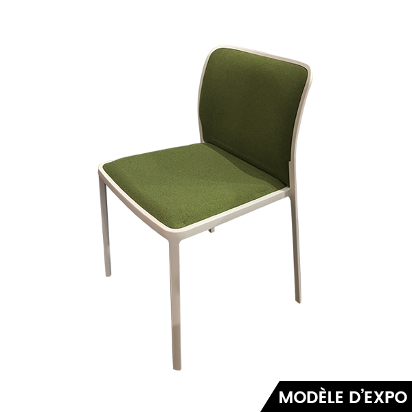 chaise audrey soft vert blanc kartell pas cher grandes. Black Bedroom Furniture Sets. Home Design Ideas