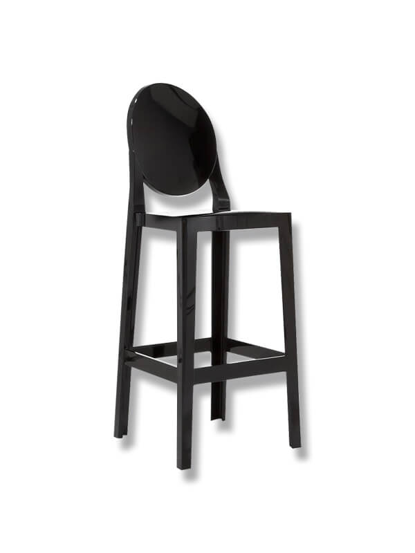 Chaise de bar one more noir kartell d 39 occasion zeeloft - Chaise de bar d occasion ...