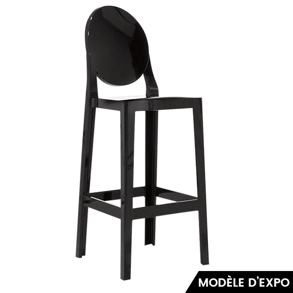 chaise de bar one more noir kartell en offre sp ciale sur zeeloft. Black Bedroom Furniture Sets. Home Design Ideas
