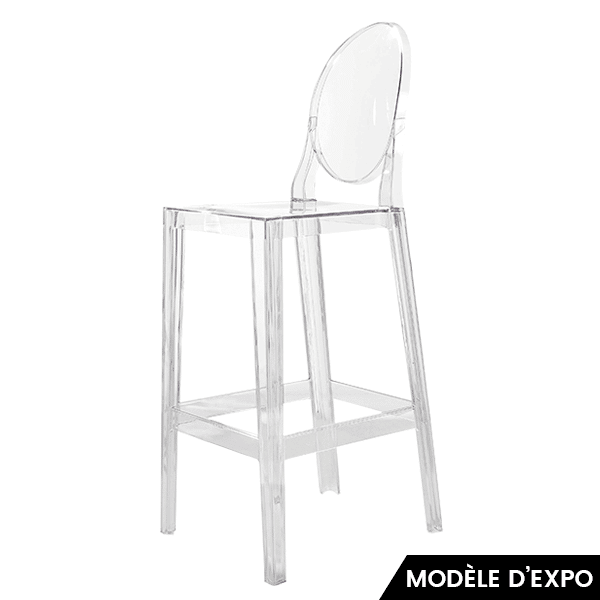 Chaise De Bar One More Kartell Starck Transparent Zeeloft Lightbox