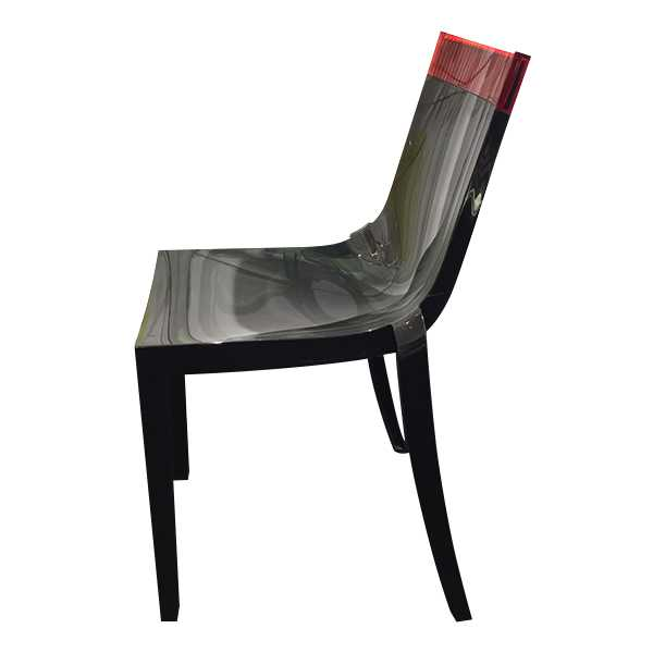 chaise hi cut rouge noir p starck kartell en offre sp ciale sur zeeloft. Black Bedroom Furniture Sets. Home Design Ideas