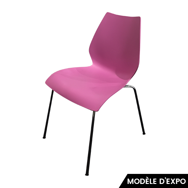chaise maui rose kartell pas cher grandes marques en promo sur zeeloft. Black Bedroom Furniture Sets. Home Design Ideas