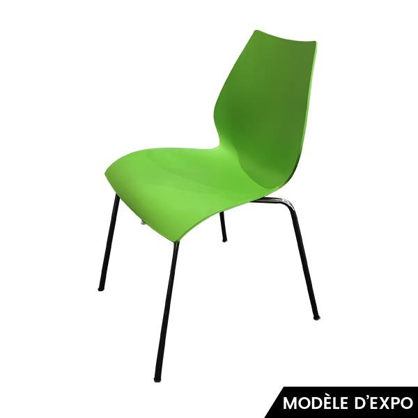 chaise maui vert kartell pas cher grandes marques en promo sur zeeloft. Black Bedroom Furniture Sets. Home Design Ideas