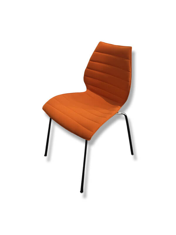 chaise maui soft tissu orange kartell d 39 occasion zeeloft. Black Bedroom Furniture Sets. Home Design Ideas