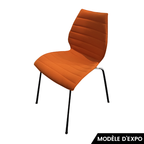 chaise maui soft orange kartell pas cher grandes marques en promo sur zeeloft. Black Bedroom Furniture Sets. Home Design Ideas