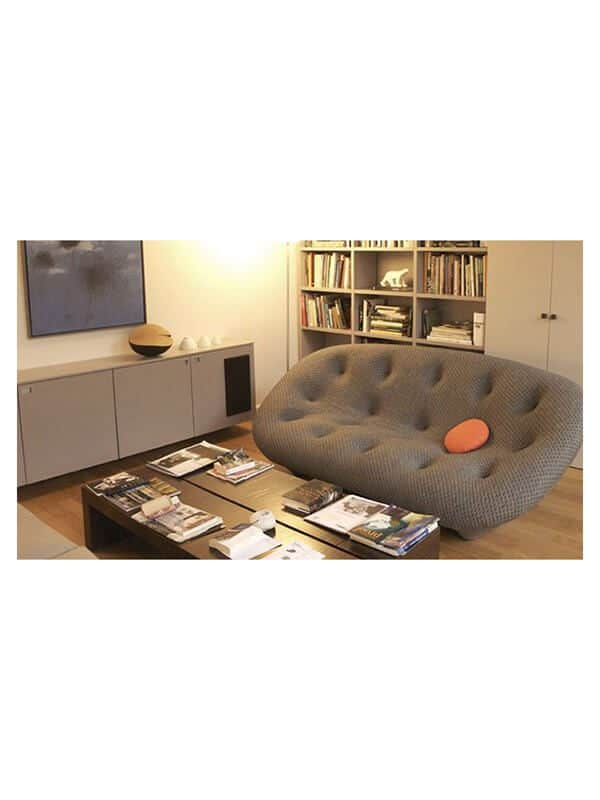 canap ploum r e bouroullec marron ligne roset d. Black Bedroom Furniture Sets. Home Design Ideas