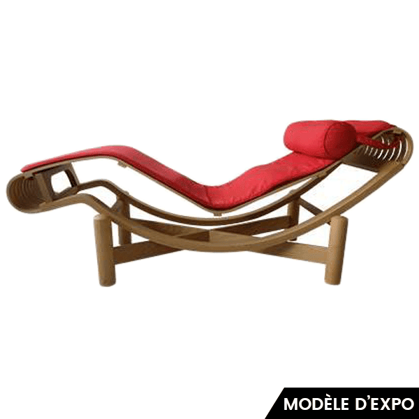 Chaise Longue Tokyo Cassina Charlotte Perriand Marron Rouge Zeeloft Lightbox