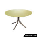 table lovegrove round table knoll verre teinte vert zeeloft